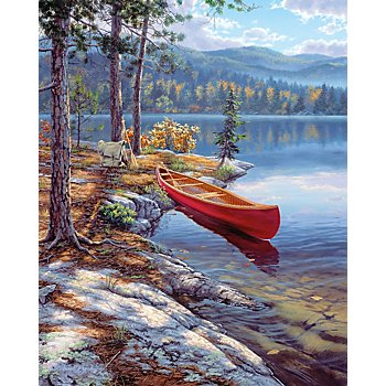 Malen nach Zahlen mit Acrylfarben 'Boot', 23 x 30,5 cm