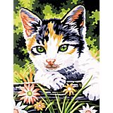 """Malen nach Zahlen mit Acrylfarben """"Katze"""", 23 x 30,5 cm"""
