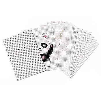 Carton à broder, blanc, 17,5 x 24,5 cm, 40 feuilles