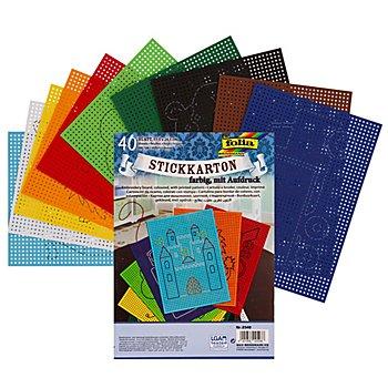 Stickkarton, bunt, 17,5 x 24,5 cm, 40 Blatt