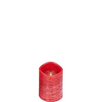 LED Kerze, 10 x 7,5 cm Ø, rot