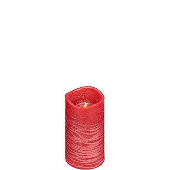 LED Kerze, 14 x 7,5 cm Ø, rot