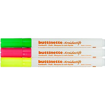 buttinette Kreidestifte-Set, neon