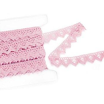 Klöppelspitze, rosa, Breite 2 cm, Länge 5 m
