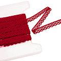 Galon de dentelle aux fuseaux, rouge, largeur : 1,3 cm, longueur : 5 m