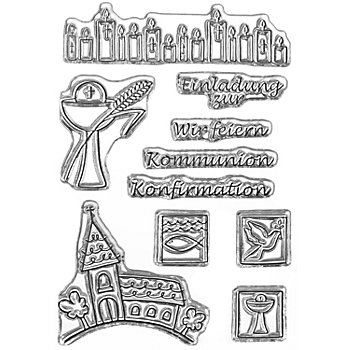 Clear Stempel-Set 'Kommunion/Konfirmation'