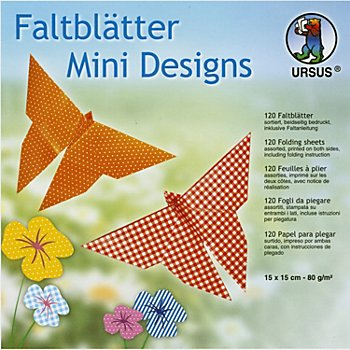 Ursus Faltblätter 'Mini Designs', 15 x 15 cm, 120 Blatt