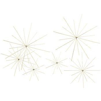 Doppel-Drahtsterne-Set, 6 Stück
