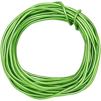 Aludraht, hellgrün, 2 mm Ø, 6 m