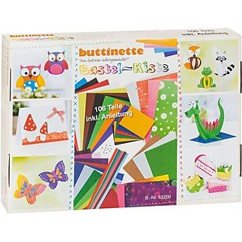 buttinette Bastelpapier-Koffer 'Allgemein', 106-teilig
