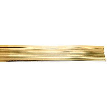 Quilling Folienstreifen, gold, 0,9 x 53 cm, 100 Stück