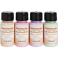 buttinette Stoffmalfarben-Set 'Pastell', 4x 50 ml