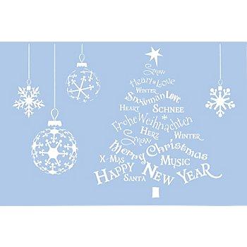 buttinette Schablone 'Weihnachten'