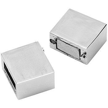 Magnetverschluss für Armbänder, silber, 1,5 cm