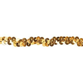 Elastik-Paillettenband, gold, Breite: 10 mm, Länge: 3 m