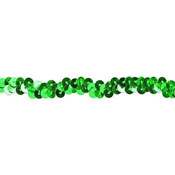 Elastik-Paillettenband, grün, Breite: 10 mm, Länge: 3 m