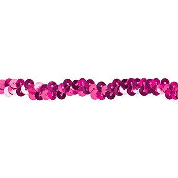 Elastik-Paillettenband, pink, Breite: 10 mm, Länge: 3 m