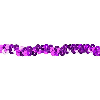 Elastik-Paillettenband, lila, Breite: 10 mm, Länge: 3 m