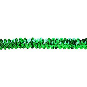 Elastik-Paillettenband, grün, Breite: 20 mm, Länge: 3 m