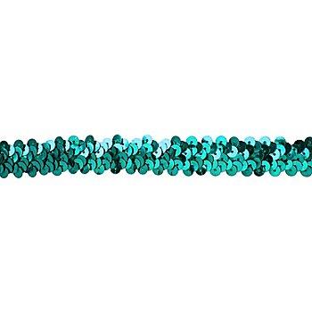 Elastik-Paillettenband, petrol, Breite: 20 mm, Länge: 3 m