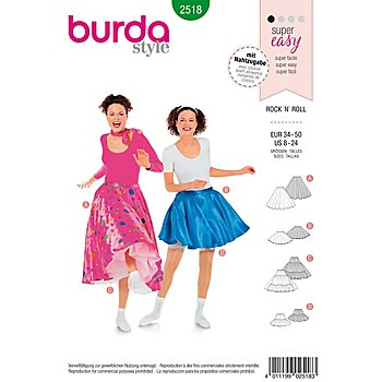 burda Patron 2518 jupe 'Rock´n´Roll