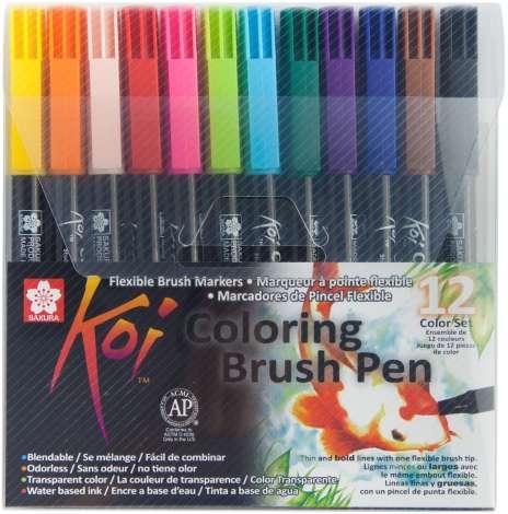 Sakura Koi Coloring Brush Pen-Set, bunt, 12 Stück