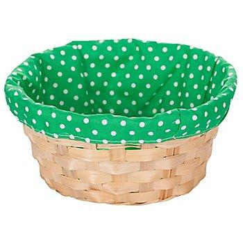 Panier pour Pâques, vert, à pois, 20 cm Ø