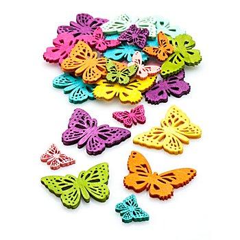 Streuteile 'Schmetterlinge', 2 cm und 4 cm, 40 Stück