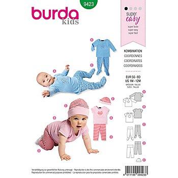 burda Patron 9423 'haut et pantalon' pour bébé