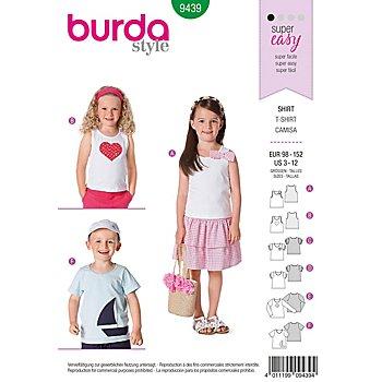 burda Schnitt 9439 'Shirt Basic' für Kinder