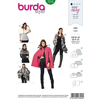 burda Schnitt 7313 'Cape Young'