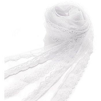 Spitzenbänderpaket, weiß, 12–20 mm, 5x 2 m