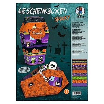 Ursus Kit créatif boîtes cadeaux 'Spooky', 6 boîtes