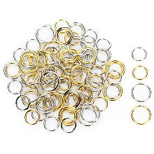 Ringel-Set, gold und silber, 100 Stück