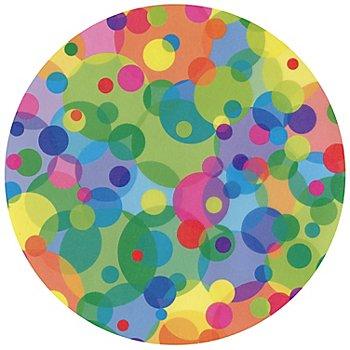 Transparentpapier-Kreise, bunte Scheiben, 17,5 cm Ø, 24 Stück