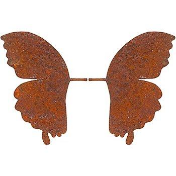 Ailes de papillon en métal aspect rouille, 1 paire