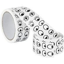 Klebesticker 'Augen', schwarz-weiß, 2.000 Stück