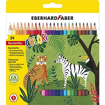 Crayons de couleur, multicolore, 24 crayons