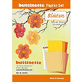 """Kit créatif en papier """"fleurs"""", orange/jaune/rouge"""