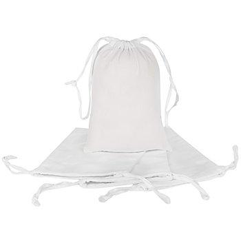 Sachets en coton, blanc, 4 pièces
