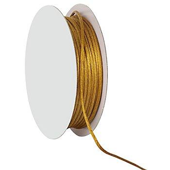 Cordelette en satin, doré, 2 mm, 20 m