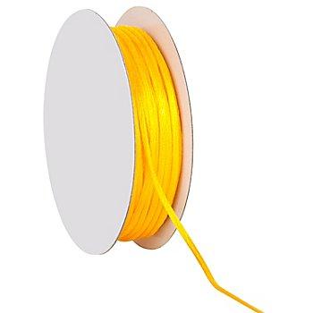 Cordelette en satin, jaune, 2 mm, 20 m