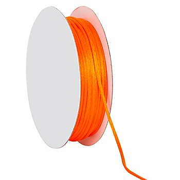 Satinkordel, orange, 2 mm, 20 m