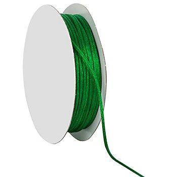 Cordelette en satin, vert, 2 mm, 20 m