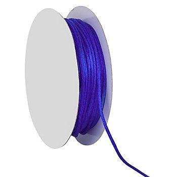 Satinkordel, blau, 2 mm, 20 m