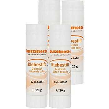 buttinette Klebestift, 20g, 4 Stück