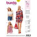 "burda Schnitt 6684 ""Kleid & Bluse im Carmen-Look Young"""