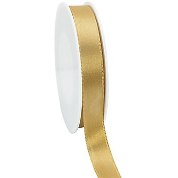 Satinband, gold, 15 mm, 50 m