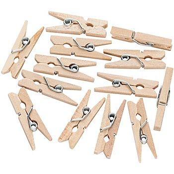 Klammern aus Holz, 2,5 cm, 100 Stück