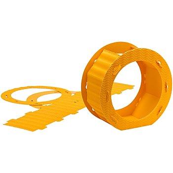 Rundlaternen-Zuschnitt, gelb, 22 cm Ø, 2 Stück